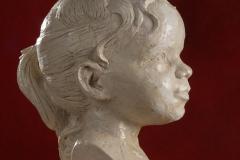Schramberg, Portraitbüste Charlotte, Gipsguss mit Schellacküberzug wg. Abformung für Bronzeguss