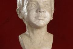 Schramberg, Portraitbüste Julius, Gipsguss mit Schellacküberzug wg. Abformung für Bronzeguss