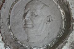 Tonmodell für Bronzemedaillon, Familiengrab Hans Grohe, Schiltach