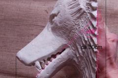 Südfrankreich, Wolfskopf-Wasserspeier, Gipsmodell