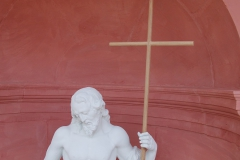 Mainz, St. Ignaz, Aussenfassade Attribute