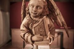 """Dommuseum Mainz, Engel für Ausstellung """"Seliges Lächeln und höllische Gelächter"""""""